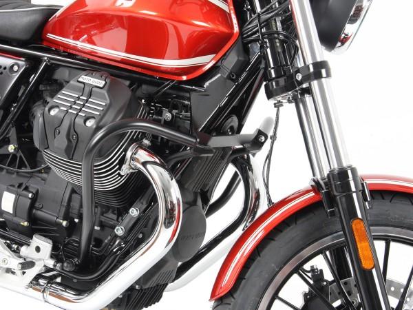 Barre de protection moteur noire pour V 9 Roamer (Bj.16-) origine Hepco & Becker