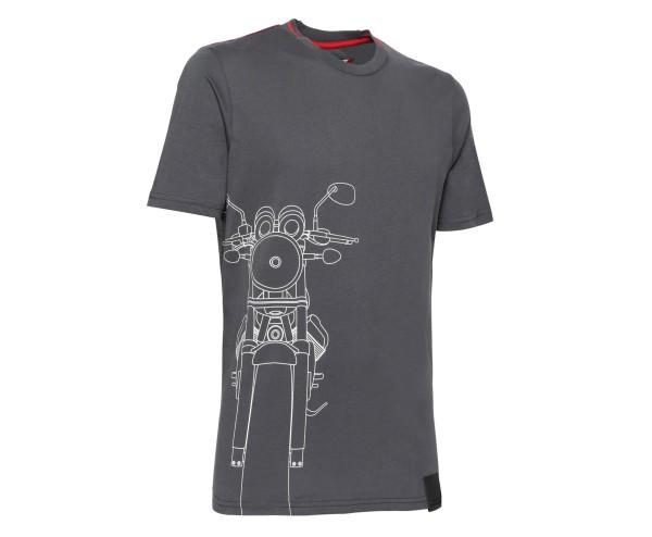 T-shirt homme Moto Guzzi coton gris