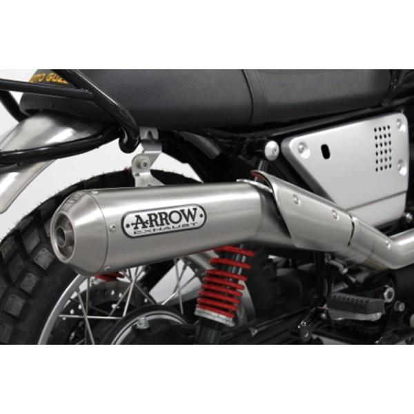 Original Moto guzzi V7 III 2018- ligne d'échappement Arrow, Euro 4, 2 en 1