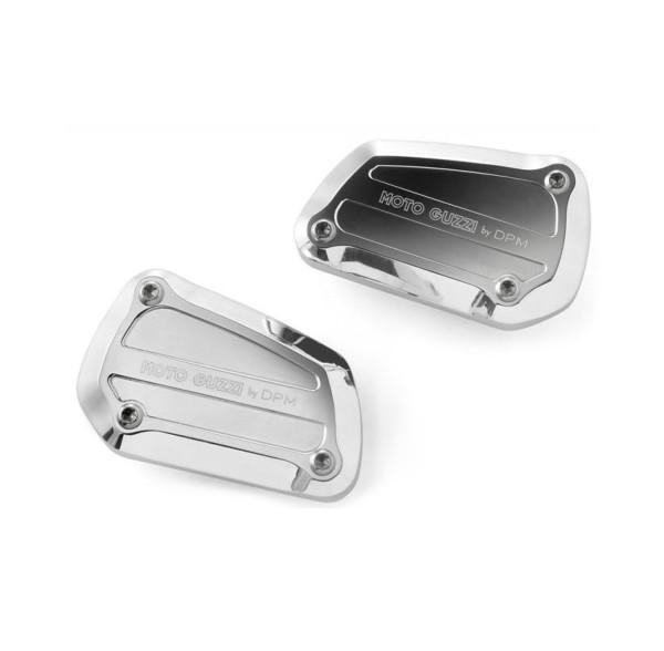Cache d'origine pour maitre cylindre de frein, aluminium, argent pour Moto Guzzi Eldorado / California