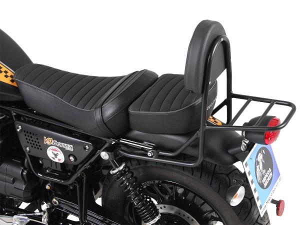 Sissy bar avec porte-bagages noir pour modèle V 9 Bobber (Bj.17-) avec siège long