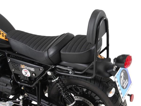 Sissy bar sans porte-bagages noir pour modèle V 9 Roamer (Bj.17-) avec siège long