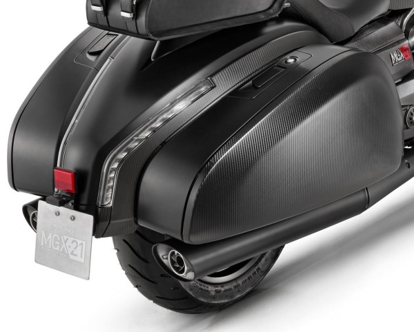 Système d'échappement d'origine slip-on pour Moto Guzzi MGX 21