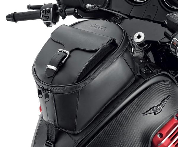 Sacoche de réservoir d'origine, en cuir pour Moto Guzzi MGX 21