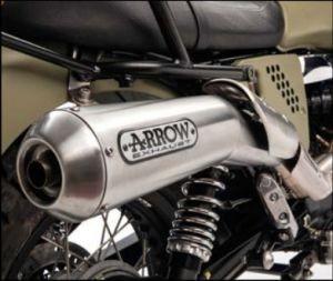 Ligne d'échappement d'origine Arrow (version ABS), slip on, Euro 3 pour Moto Guzzi V7 II