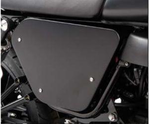 Caches d'origine, aluminium, noirs pour Moto Guzzi V7 I + II