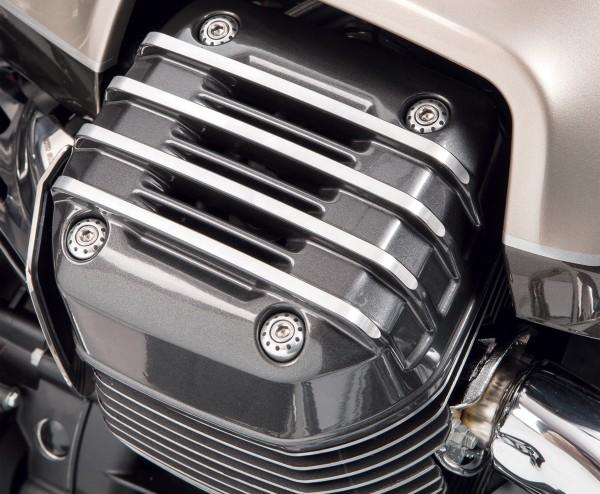 Cache d'origine pour culasse, gris pour Moto Guzzi Audace / California / Eldorado