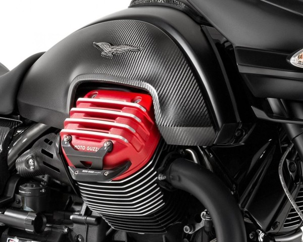 Barre de protection en aluminium, noire pour Moto Guzzi MGX 21