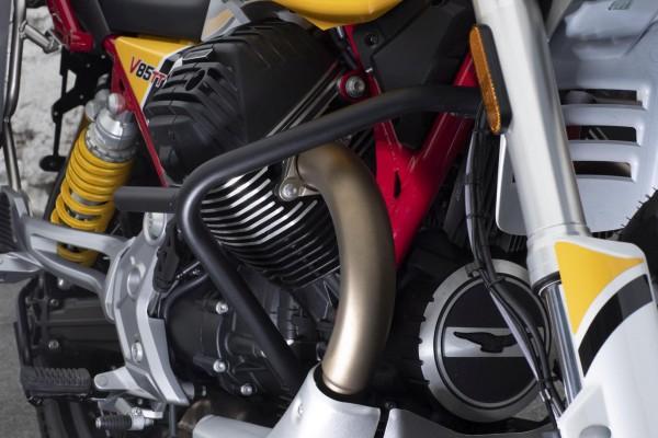 Barre de protection moteur d'origine, noire pour Moto Guzzi V85 TT
