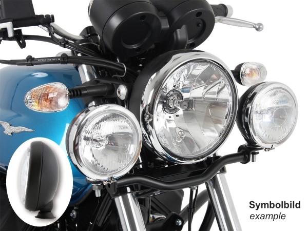 Twinlight set phares supplémentaires noir pour V 7 III stone / special / Anniversario / Racer (Bj.17-)