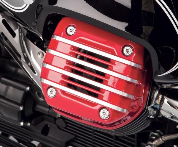 Cache d'origine pour culasse (paire), rouge pour Moto Guzzi Eldorado
