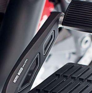 Cache, aluminium, noir, pour levier de frein à pied pour Moto Guzzi MGX 21 / Audace