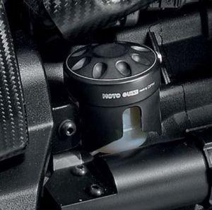 Couvercle d'origine pour réservoir de liquide de frein, aluminium, noir pour Moto Guzzi MGX 21