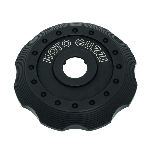 Couvercle pour bouchon de remplissage de carburant, aluminium noir pour Moto Guzzi V7 III / V7 850