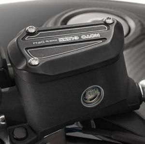 Cache aluminium noir pour Moto Guzzi MGX 21
