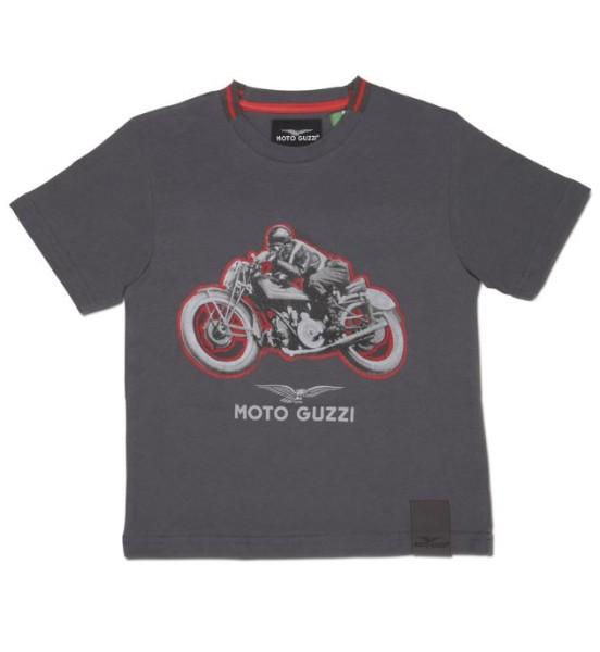 T-shirt enfant Moto Guzzi garage coton gris