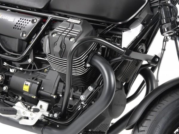 Barre de protection moteur noire pour V 9 Bobber (Bj.16-) / Bobber Sport (Bj.19-) origine Hepco & Becker