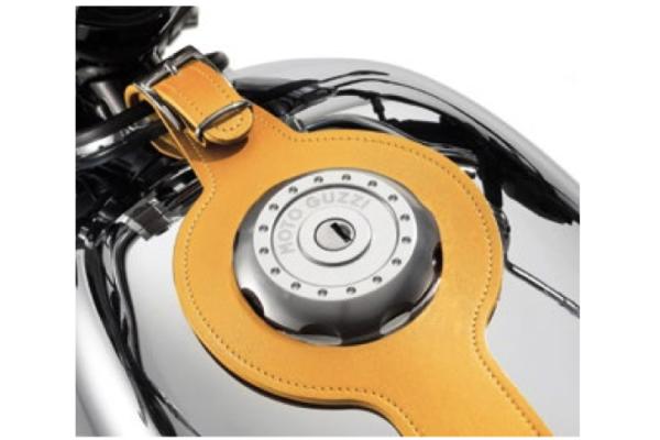 Sangle de réservoir, marron, cuir pour Moto Guzzi V7 III