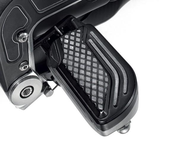 Couvre repose-pieds, aluminium, noir pour Moto Guzzi MGX 21