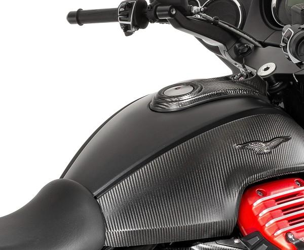 Cache réservoir carbone pour Moto Guzzi MGX 21