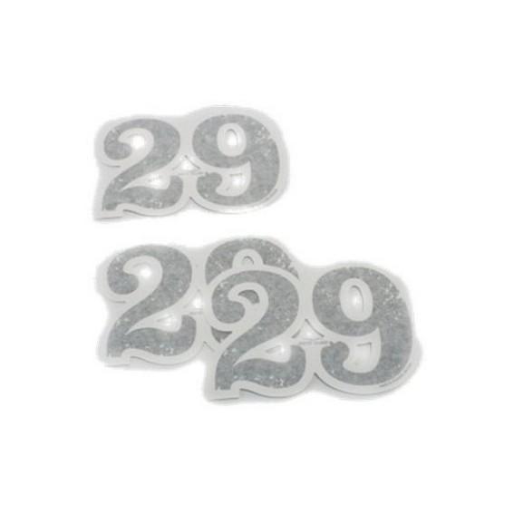 Set déco original, 29, chiffres adhésifs, aluminium pour Moto Guzzi V7 I + II