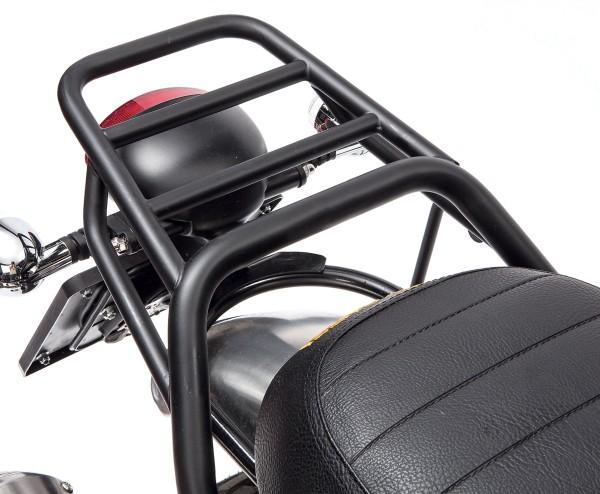 Porte-bagages, arrière, noir, rigide pour Moto Guzzi V7 I + II, V7 III