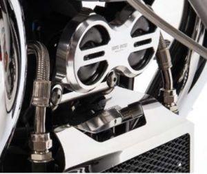 Cache klaxon d'origine, aluminium, titane pour Moto Guzzi Eldorado / California