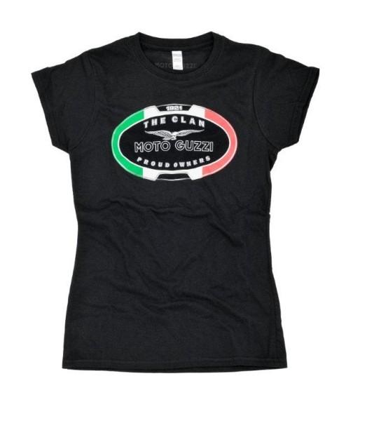 T-shirt femme Moto Guzzi LE CLAN noir