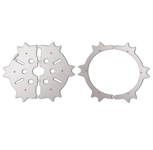 Couvercle de disque de frein d'origine, acier inoxydable, argent, poli pour Moto Guzzi Eldorado