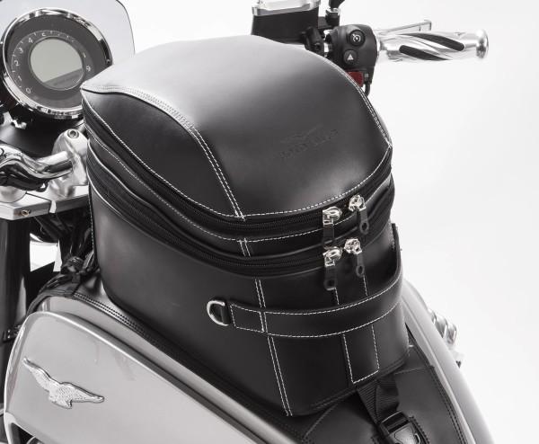 Sacoche de réservoir originale, cuir, noir pour Moto Guzzi Eldorado