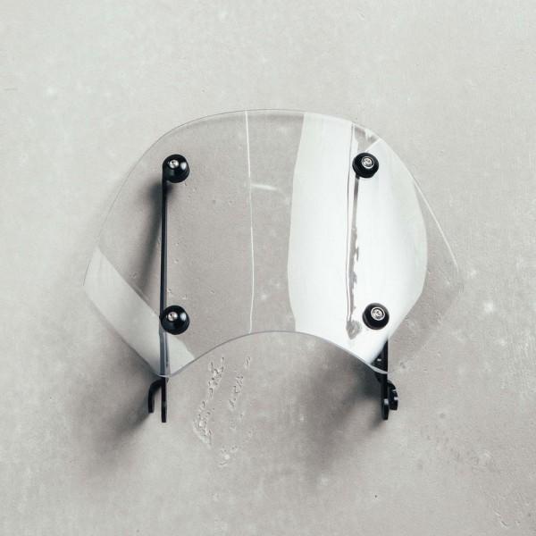 Original Windschutzscheibe komplett, klar für Moto Guzzi V9 Bobber