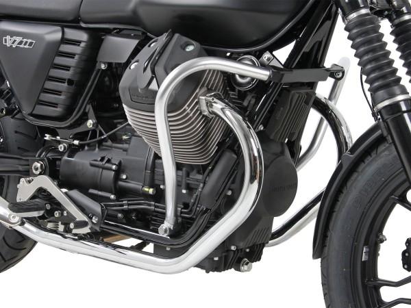 Barre de protection moteur chromée pour V 7 II Classic (Bj.15-) origine Hepco & Becker