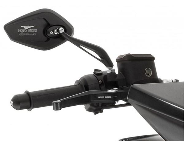 Rétroviseur, ensemble, aluminium, noir pour Moto Guzzi MGX 21