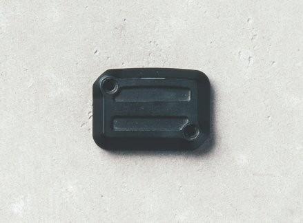 Couvercle pour réservoir de liquide de frein, aluminium, Dark Rider, noir pour Moto Guzzi V7 III