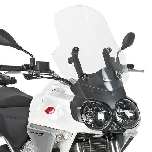 Pare-brise transparent pour Moto Guzzi Stelvio 1200 (Bj.08-10) origine Givi