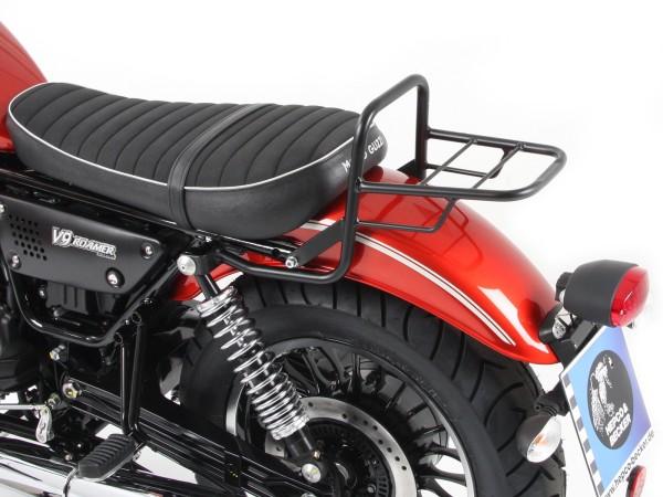 Tube porte-bagages top case noir pour modèle V 9 Roamer (Bj.17-) avec siège court