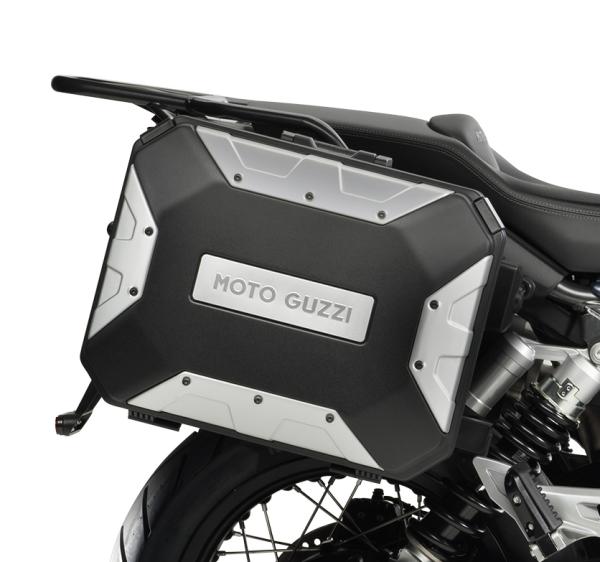 "Valise latérale en aluminium (set) ""URBAN"" pour Moto Guzzi V85 TT"