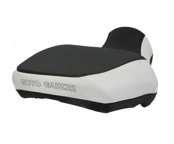 Siège confort Moto Guzzi California, noir / blanc