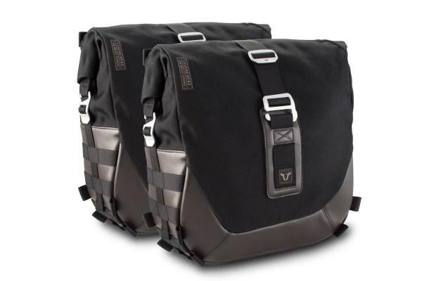 Système de sacoches latérales Legend Gear LC Black Edition pour Moto Guzzi V9 Roamer / Bobber SW Motech