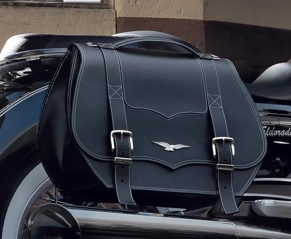 Sacoches d'origine, cuir, noir, 23 l pour Moto Guzzi Eldorado