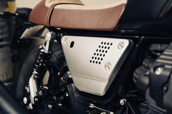 Jeu de caches latéraux en aluminium argent Moto Guzzi V7 III / V9 Bobber / Roamer