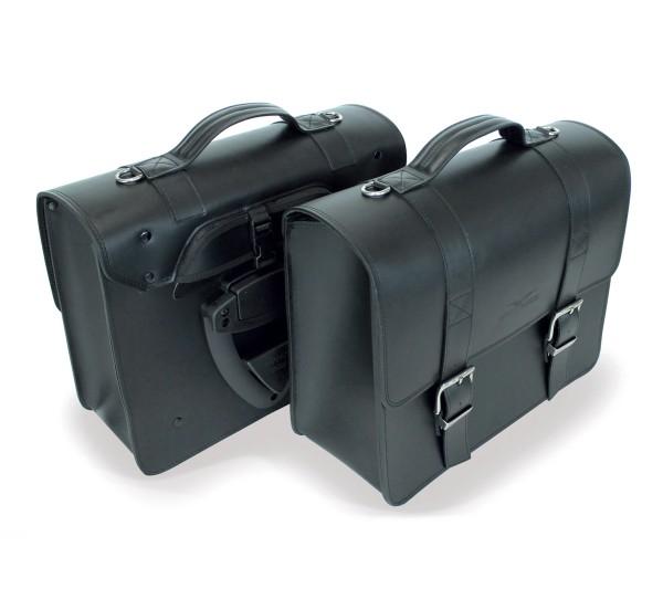 Sacoche latérale noire pour Moto Guzzi V7 III / V9 Bobber / Roamer / Audace