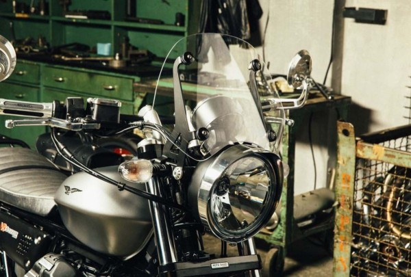 Cadre de phare chromé pour Moto Guzzi V7 III / V9 Bobber / V9 Roamer